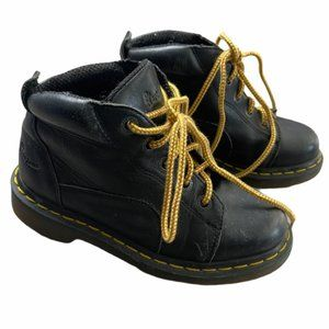 DR. MARTENS VTG Black Leather Boots Unisex Kids